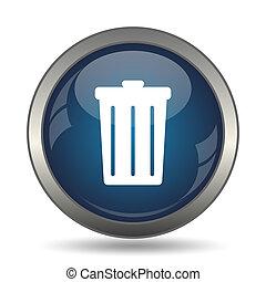 Bin icon. Internet button on white background.