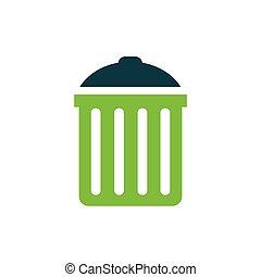 bin icon  vector green