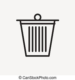 bin outline icon