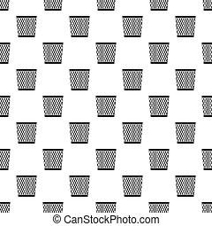 Bin pattern, simple style