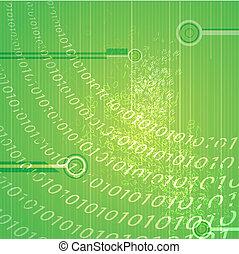 binair, abstract, achtergrond