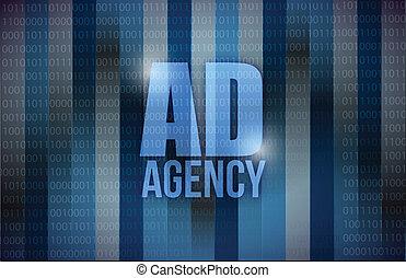 binair, agentschap, ontwerp, advertentie, achtergrond