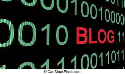 binair, blog, data, op, tekst