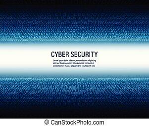 binair, concept, cyber, code, achtergrond, veiligheid