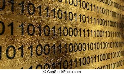 binair, concept, grunge, data