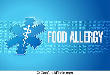 binair, concept, voedingsmiddelen, allergie, meldingsbord, ...