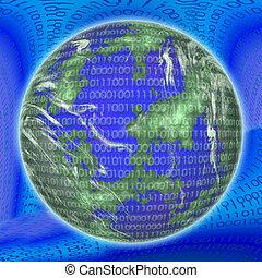 binair, globe