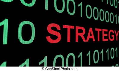binair, op, strategie, data, tekst
