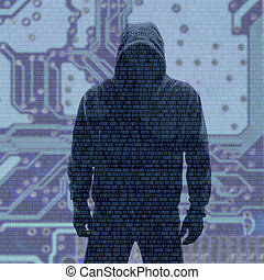 binair, wachtwoord, codes, hacked