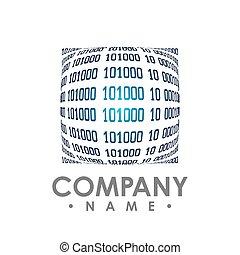 binair, wallpaper., code, technologie, achtergrond.,...