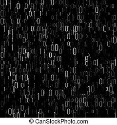 binaire code, computer, algorithm, achtergrond., code,...