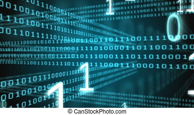 binaire code, digitaal gegenereerde, video