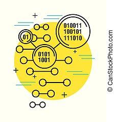 binaire code, digitale technologie, achtergrond