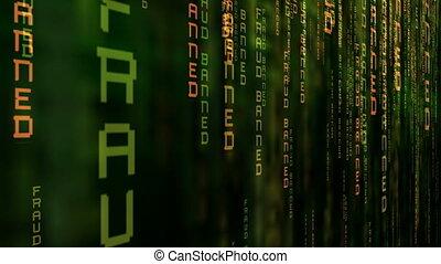 binaire code, het openbaren, computer, fraude, data,...