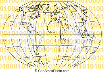 binaire code, wereld