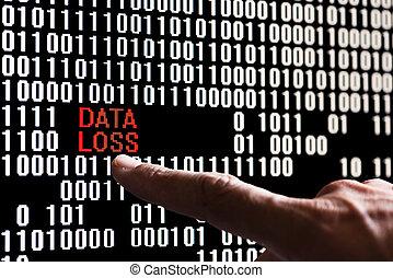 binaire, compte, code, pointage doigt, banque données