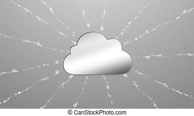 binaire, fait, co, nuage, calculer