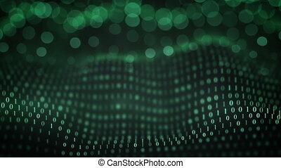 binaire, foyer, vague, symboles, sélectif, seamless,...