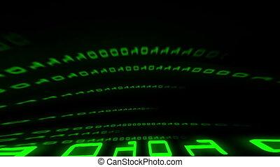 binaire gegevens, display, digitale