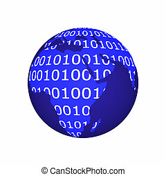 binaire, globe