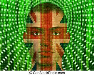 binaire, homme, royaume-uni, ruisseler