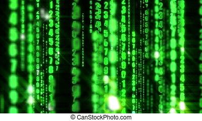 binaire, matrice, données, numérique, informatique, fond, ...