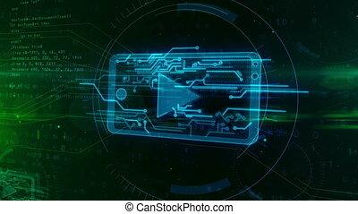 binaire, mobile, média, fournisseur, signe, joueur, fond, numérique