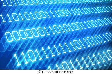 binaire, résumé, code, fond