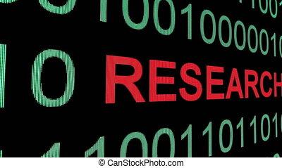 binaire, recherche, données, texte