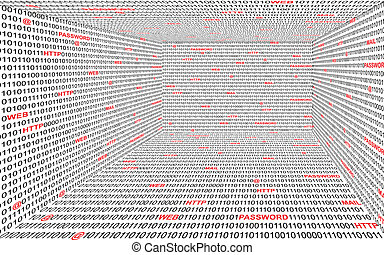 binaire, technologie, fond