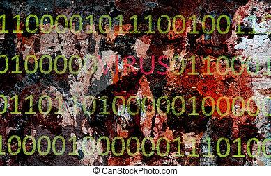 binaire, virus, données