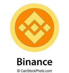 Binance icon, flat style