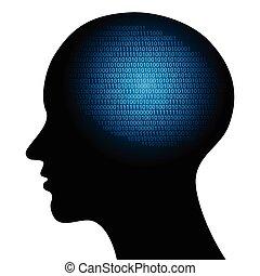 binario, astratto, codice, illustrazione, ciao-tecnologia, vettore