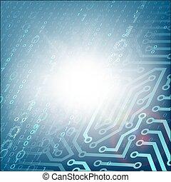 binario, code., tecnologia, circuito, fondo