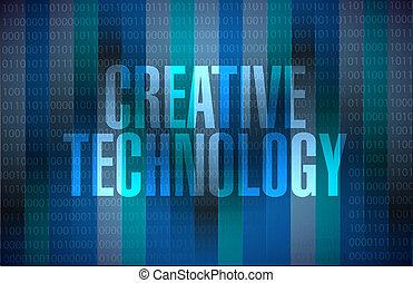 binario, concepto, tecnología, creativo, señal