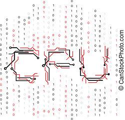 binario, cpu, circuito