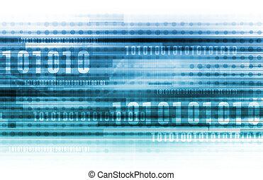 binario, datos, Plano de fondo