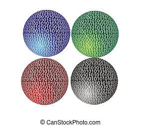 binario, esfera