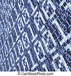 binario, strato, astratto, composizione