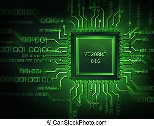 binario, unidad central de procesamiento