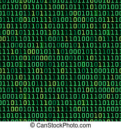 Binary Background - Binary computer code repeating vector...