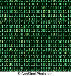 Binary Background - Binary computer code repeating vector...