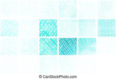 Binary Blocks as a Technology Concept Art
