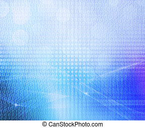 Binary Blue Abstract Background