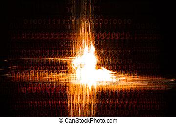 Binary Chaos - binary chaos computer code with light