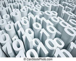 binary code 3d background