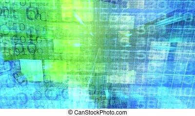 Binary Code. Abstract Big Data background. Data Stream -...