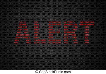 "Binary code ""Alert"" text - Binary code concept with ""ALERT""..."