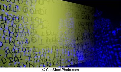 Binary Code. Background - Abstract Big Data. Data Stream