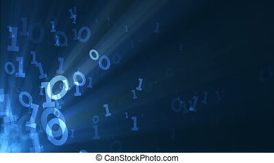 Binary code background animation. Seamless loop